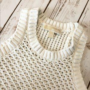 Michael Kors Crochet fringe white xxs